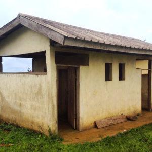 The Bankondji Middle school bathroom (front)